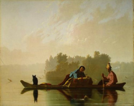 Bingham's Fur Traders Descending the Missouri